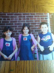 My twin, Kayleigh, me and Joey
